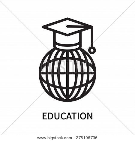 Education Icon Isolated On White Background. Education Icon Simple Sign. Education Icon Trendy And M