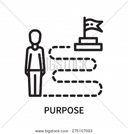 Purpose Icon Isolated On White Background. Purpose Icon Simple Sign. Purpose Icon Trendy And Modern