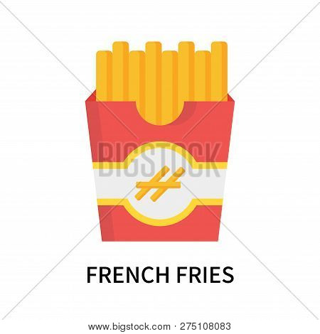 French Fries Icon Isolated On White Background. French Fries Icon Simple Sign. French Fries Icon Tre