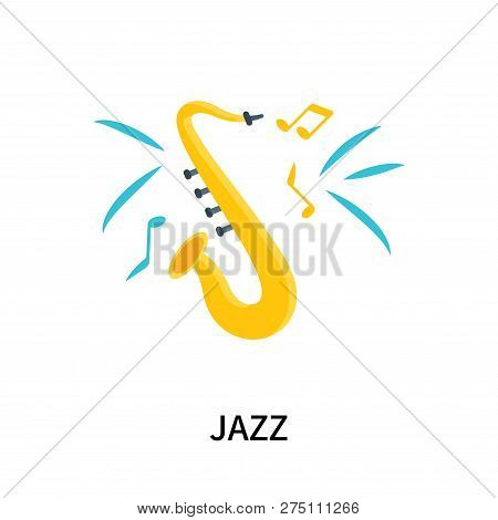 Jazz Icon Isolated On White Background. Jazz Icon Simple Sign. Jazz Icon Trendy And Modern Symbol Fo