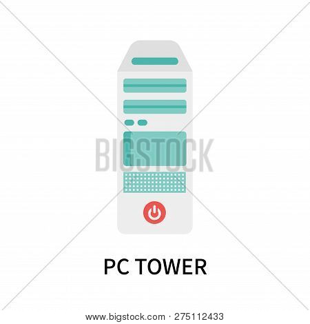 Pc Tower Icon Isolated On White Background. Pc Tower Icon Simple Sign. Pc Tower Icon Trendy And Mode