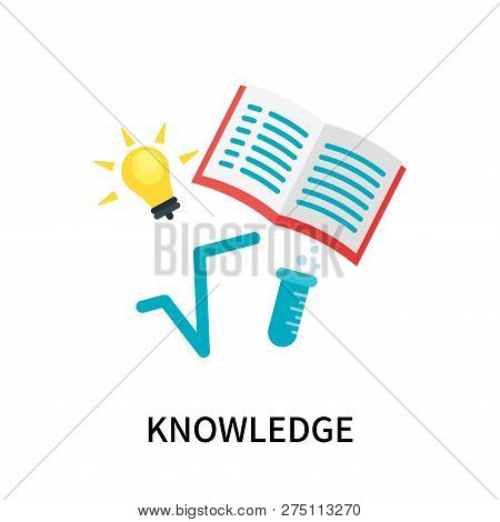 Knowledge Icon Isolated On White Background. Knowledge Icon Simple Sign. Knowledge Icon Trendy And M