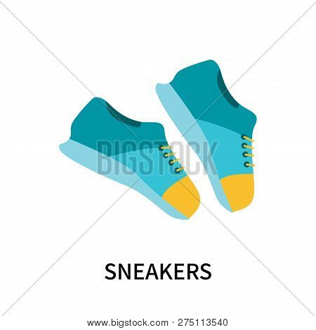 Sneakers Icon Isolated On White Background. Sneakers Icon Simple Sign. Sneakers Icon Trendy And Mode