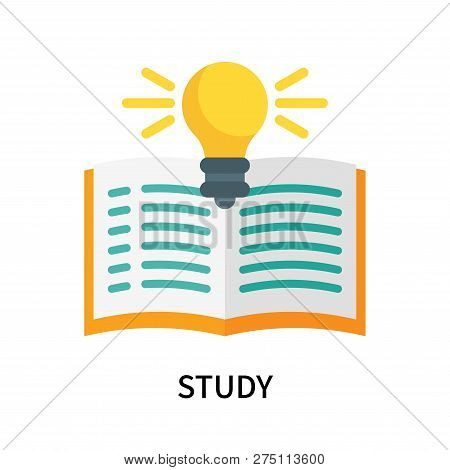 Study Icon Isolated On White Background. Study Icon Simple Sign. Study Icon Trendy And Modern Symbol