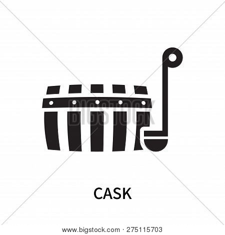 Cask Icon Isolated On White Background. Cask Icon Simple Sign. Cask Icon Trendy And Modern Symbol Fo