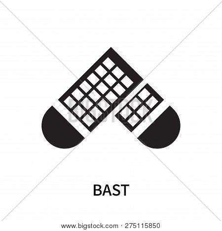 Bast Icon Isolated On White Background. Bast Icon Simple Sign. Bast Icon Trendy And Modern Symbol Fo