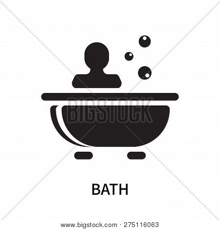 Bath Icon Isolated On White Background. Bath Icon Simple Sign. Bath Icon Trendy And Modern Symbol Fo