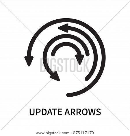 Update Arrows Icon Isolated On White Background. Update Arrows Icon Simple Sign. Update Arrows Icon