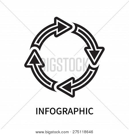 Infographic Icon Isolated On White Background. Infographic Icon Simple Sign. Infographic Icon Trendy
