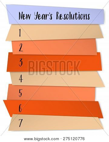 New Year Resolutions Challenge Vector Template. To Do List Blank Sticky Notes. Changes Resolution Ch