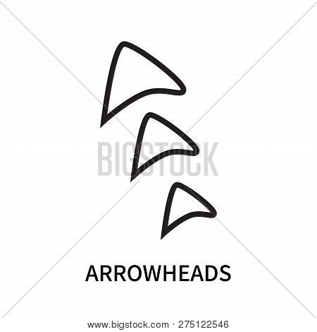 Arrowheads Icon Isolated On White Background. Arrowheads Icon Simple Sign. Arrowheads Icon Trendy An