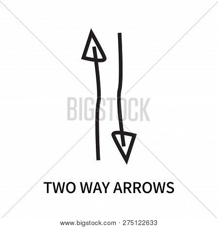 Two Way Arrows Icon Isolated On White Background. Two Way Arrows Icon Simple Sign. Two Way Arrows Ic