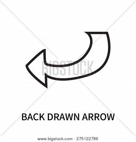Back Drawn Arrow Icon Isolated On White Background. Back Drawn Arrow Icon Simple Sign. Back Drawn Ar