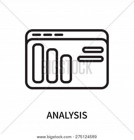 Analysis Icon Isolated On White Background. Analysis Icon Simple Sign. Analysis Icon Trendy And Mode