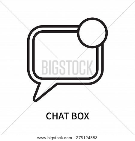 Chat Box Icon Isolated On White Background. Chat Box Icon Simple Sign. Chat Box Icon Trendy And Mode