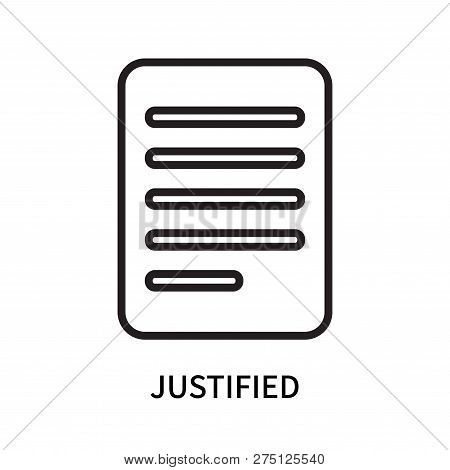 Justified Icon Isolated On White Background. Justified Icon Simple Sign. Justified Icon Trendy And M
