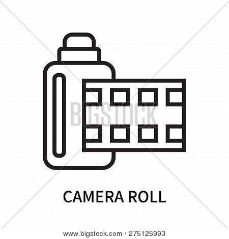 Camera Roll Icon Isolated On White Background. Camera Roll Icon Simple Sign. Camera Roll Icon Trendy
