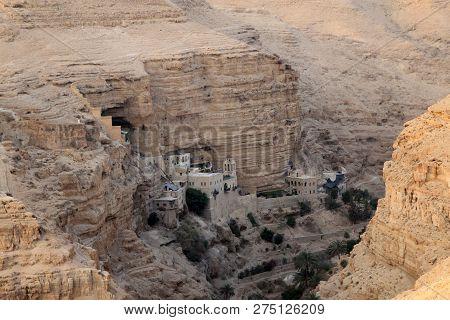 St George Monastery In Wadi Kelt, Judea Desert