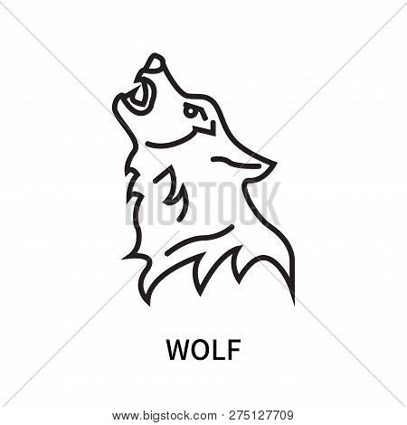 Wolf Icon Isolated On White Background. Wolf Icon Simple Sign. Wolf Icon Trendy And Modern Symbol Fo