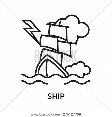 Ship Icon Isolated On White Background. Ship Icon Simple Sign. Ship Icon Trendy And Modern Symbol Fo