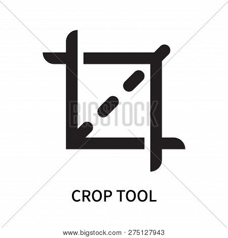 Crop Tool Icon Isolated On White Background. Crop Tool Icon Simple Sign. Crop Tool Icon Trendy And M