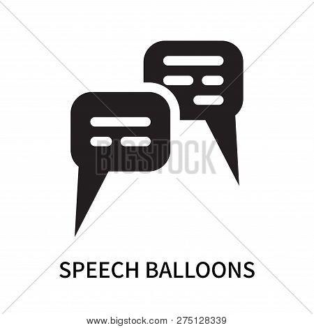 Speech Balloons Icon Isolated On White Background. Speech Balloons Icon Simple Sign. Speech Balloons