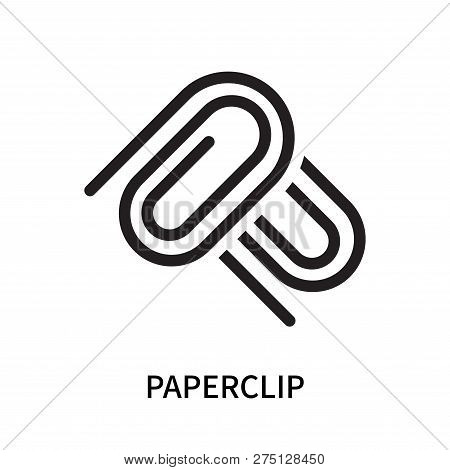 Paperclip Icon Isolated On White Background. Paperclip Icon Simple Sign. Paperclip Icon Trendy And M
