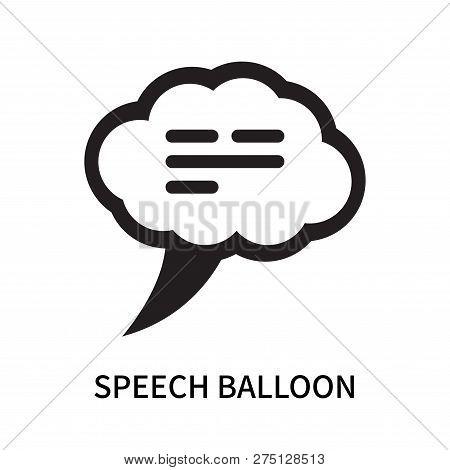 Speech Balloon Icon Isolated On White Background. Speech Balloon Icon Simple Sign. Speech Balloon Ic
