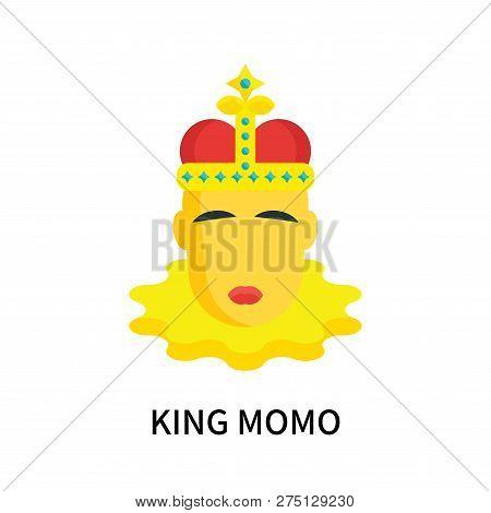 King Momo Icon Isolated On White Background. King Momo Icon Simple Sign. King Momo Icon Trendy And M