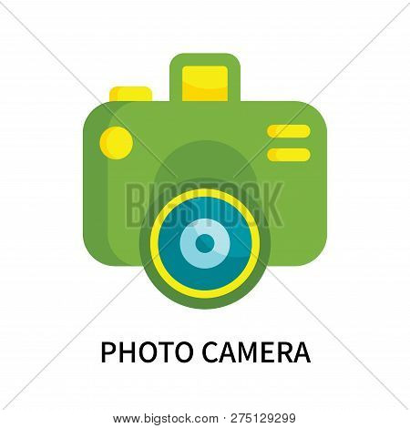 Photo Camera Icon Isolated On White Background. Photo Camera Icon Simple Sign. Photo Camera Icon Tre