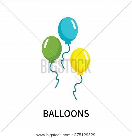 Balloons Icon Isolated On White Background. Balloons Icon Simple Sign. Balloons Icon Trendy And Mode