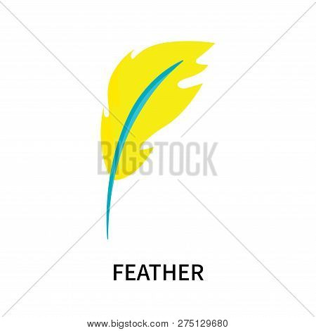 Feather Icon Isolated On White Background. Feather Icon Simple Sign. Feather Icon Trendy And Modern