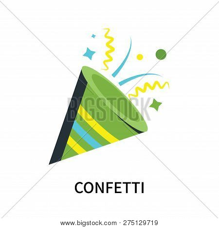 Confetti Icon Isolated On White Background. Confetti Icon Simple Sign. Confetti Icon Trendy And Mode