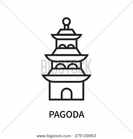Pagoda Icon Isolated On White Background. Pagoda Icon Simple Sign. Pagoda Icon Trendy And Modern Sym