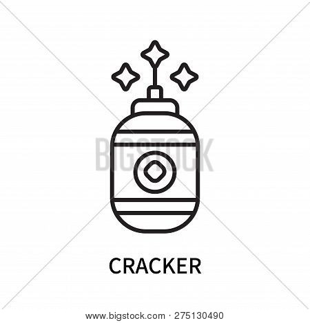 Cracker Icon Isolated On White Background. Cracker Icon Simple Sign. Cracker Icon Trendy And Modern