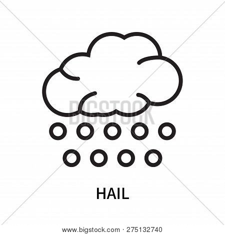 Hail Icon Isolated On White Background. Hail Icon Simple Sign. Hail Icon Trendy And Modern Symbol Fo