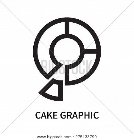 Cake Graphic Icon Isolated On White Background. Cake Graphic Icon Simple Sign. Cake Graphic Icon Tre
