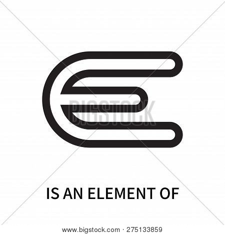 Is An Element Of Icon Isolated On White Background. Is An Element Of Icon Simple Sign. Is An Element