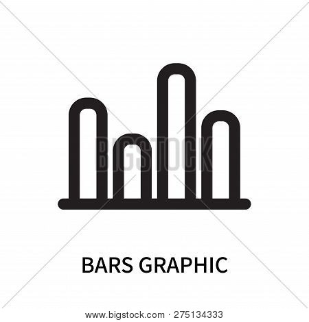 Bars Graphic Icon Isolated On White Background. Bars Graphic Icon Simple Sign. Bars Graphic Icon Tre