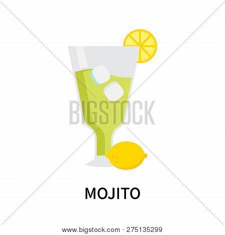 Mojito Icon Isolated On White Background. Mojito Icon Simple Sign. Mojito Icon Trendy And Modern Sym