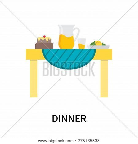 Dinner Icon Isolated On White Background. Dinner Icon Simple Sign. Dinner Icon Trendy And Modern Sym