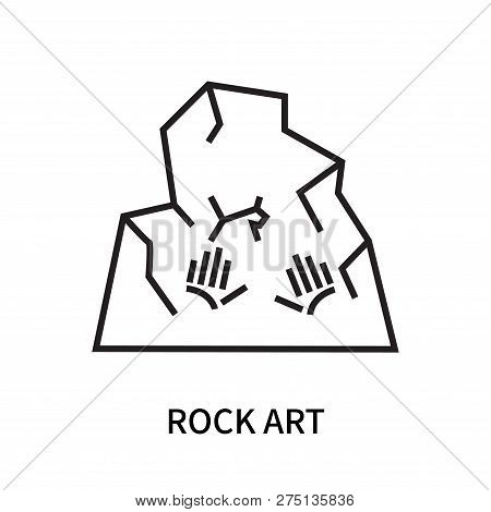 Rock Art Icon Isolated On White Background. Rock Art Icon Simple Sign. Rock Art Icon Trendy And Mode