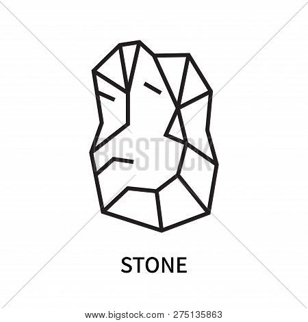 Stone Icon Isolated On White Background. Stone Icon Simple Sign. Stone Icon Trendy And Modern Symbol