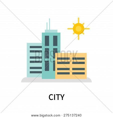 City Icon Isolated On White Background. City Icon Simple Sign. City Icon Trendy And Modern Symbol Fo