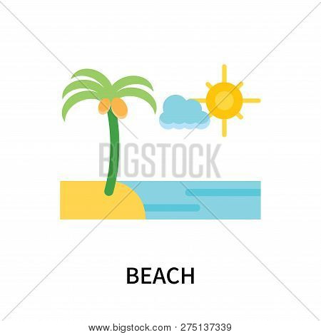 Beach Icon Isolated On White Background. Beach Icon Simple Sign. Beach Icon Trendy And Modern Symbol
