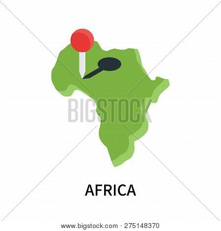 Africa Icon Isolated On White Background. Africa Icon Simple Sign. Africa Icon Trendy And Modern Sym