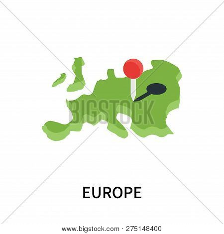 Europe Icon Isolated On White Background. Europe Icon Simple Sign. Europe Icon Trendy And Modern Sym