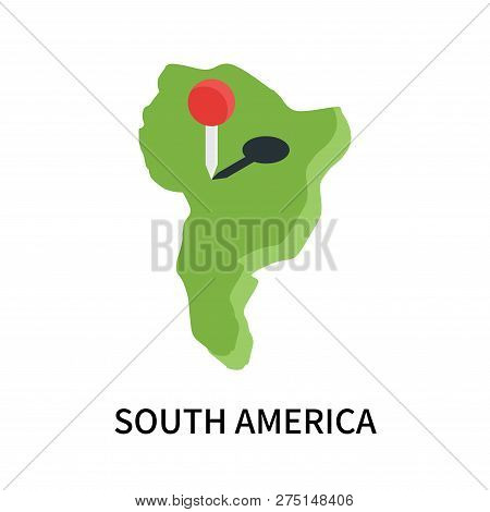 South America Icon Isolated On White Background. South America Icon Simple Sign. South America Icon