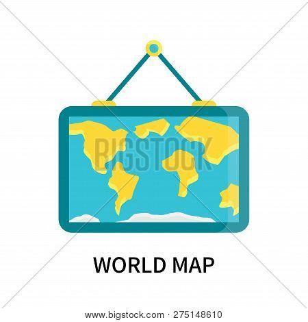 World Map Icon Isolated On White Background. World Map Icon Simple Sign. World Map Icon Trendy And M