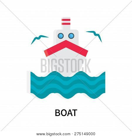 Boat Icon Isolated On White Background. Boat Icon Simple Sign. Boat Icon Trendy And Modern Symbol Fo